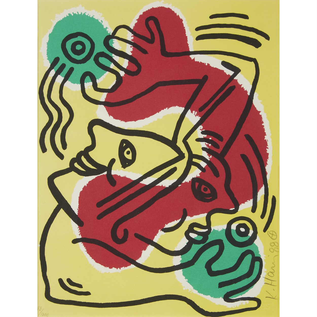 Lot 73 - Two PrintsKeith Haring (American, 1958-1990)