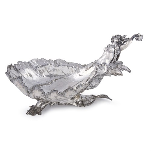 Lot 45 - A German silver figural centerpiece bowl