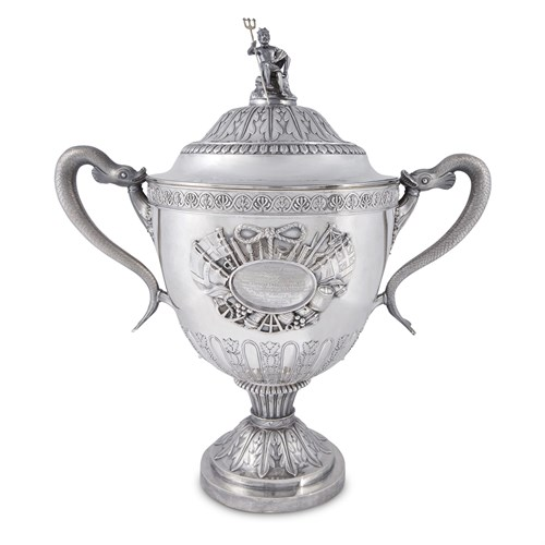Lot 30 - A George III sterling silver 'Duckworth' covered trophy