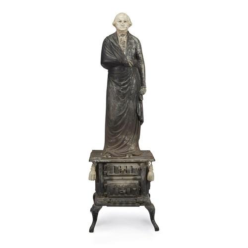 Lot 56 - Painted cast-iron stove figure of George Washington