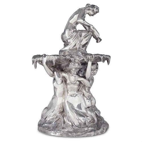 Lot 43 - An exceptional Victorian sterling silver figural centerpiece