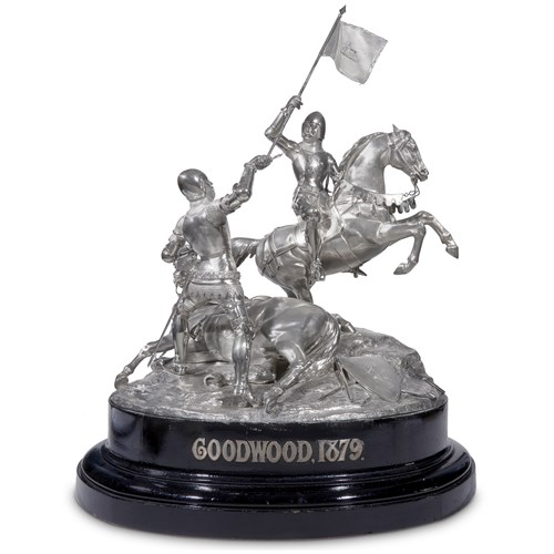 Lot 38 - An important Victorian sterling silver equestrian trophy, 'Goodwood Cup'