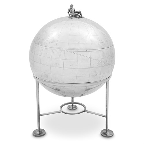Lot 31 - A rare George III sterling silver globe on stand, 'The Captain Cook Globe'