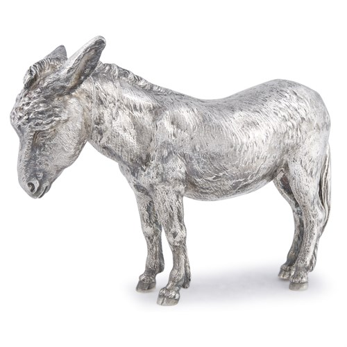Lot 44 - A Victorian sterling silver decanter in the form of a donkey