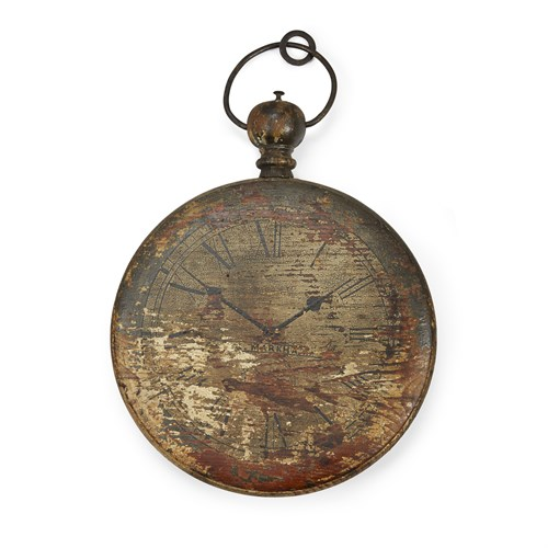 Lot 94 - Painted wood double-sided pocket watch trade sign