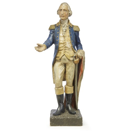 Lot 57 - Carved and painted figure of General George Washington
