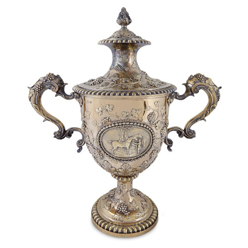 Lot 29 - A George III silver-gilt equestrian trophy, 'Doncaster Cup'