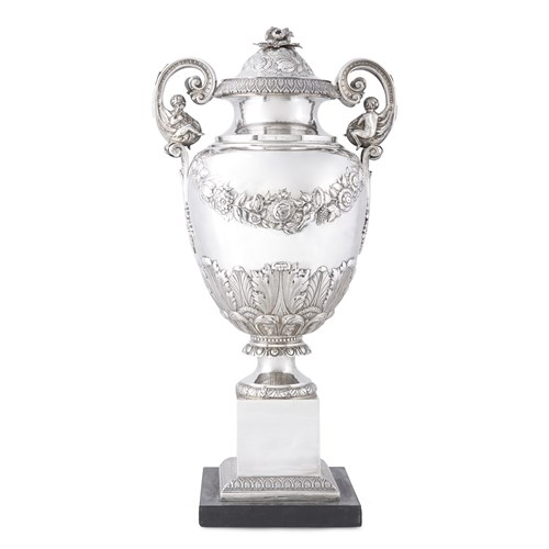 Lot 26 - Classical silver covered urn