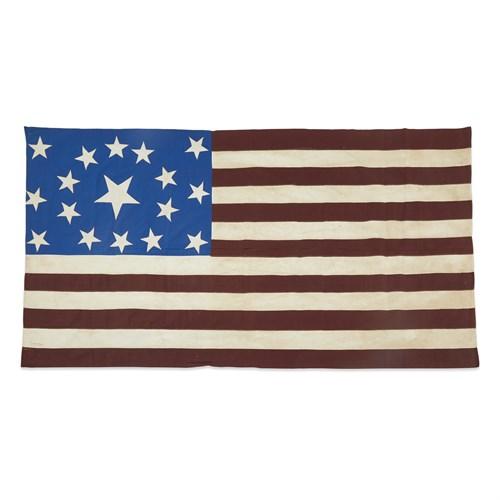 Lot 12 - A 17-Star American Flag commemorating Ohio statehood