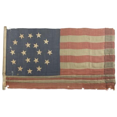 Lot 13 - An 18-Star American Flag commemorating Louisiana statehood