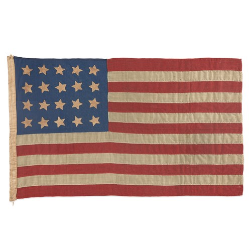 Lot 15 - A 20-Star American Flag commemorating Mississippi statehood