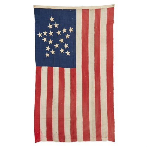 Lot 16 - A 20-Star 'Great Star' pattern American Flag commemorating Mississippi statehood