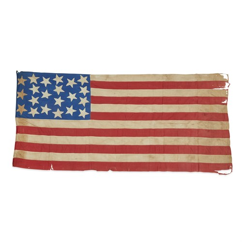 Lot 18 - A 21-Star American Flag commemorating Illinois statehood or Exclusionary Flag