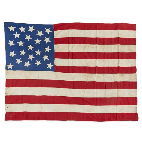 Lot 21 - A 23-Star American Flag commemorating Maine statehood or Exclusionary Flag