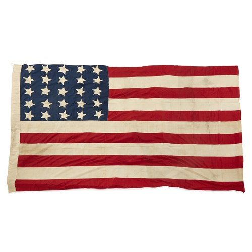 Lot 24 - A 25-Star American Flag commemorating Arkansas statehood or Exclusionary Flag