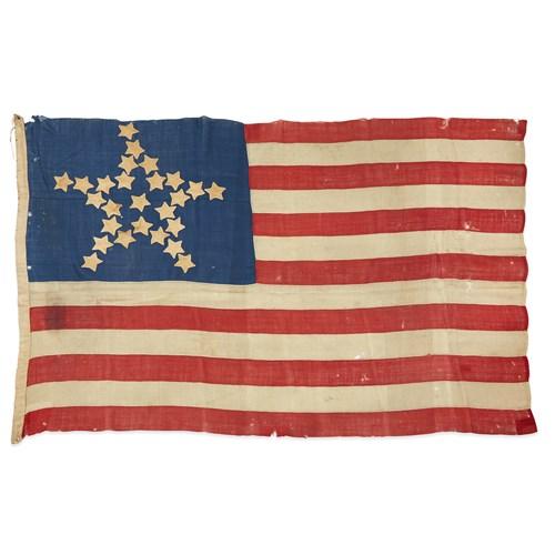Lot 26 - A 26-Star 'Great Luminary' American Flag commemorating Michigan statehood