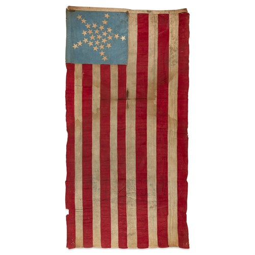 Lot 29 - A 28-Star 'Great Star' American Flag commemorating Texas statehood