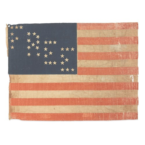 Lot 53 - A 35-Star 'Free Soil Party' parade Flag