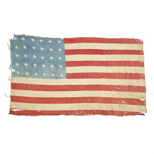 Lot 33 - A 30-Star American Flag with Civil War provenance