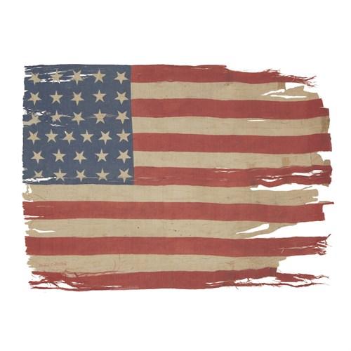 Lot 38 - A 31-Star American parade Flag commemorating California statehood