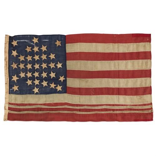 Lot 44 - A 33-Star American Flag commemorating Oregon statehood
