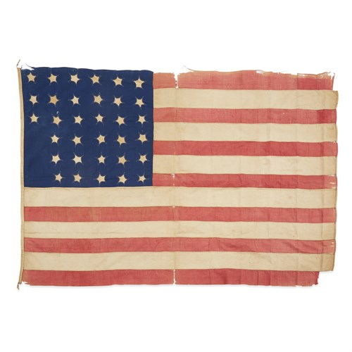 Lot 43 - A 33-Star American Flag with Civil War, First Battle of Bull Run association