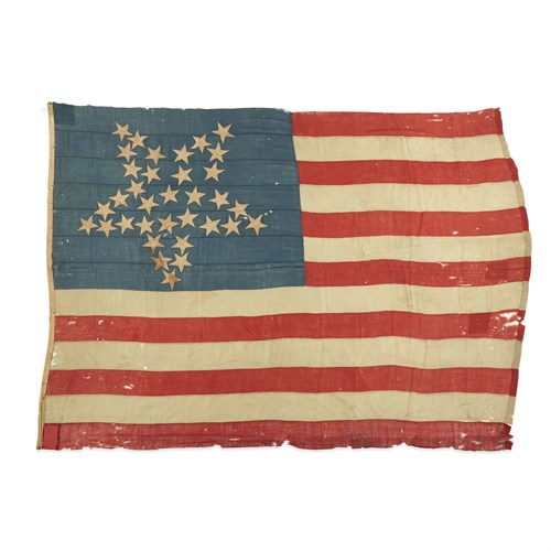 Lot 45 - A 34-Star 'Great Luminary' American Flag commemorating Kansas statehood