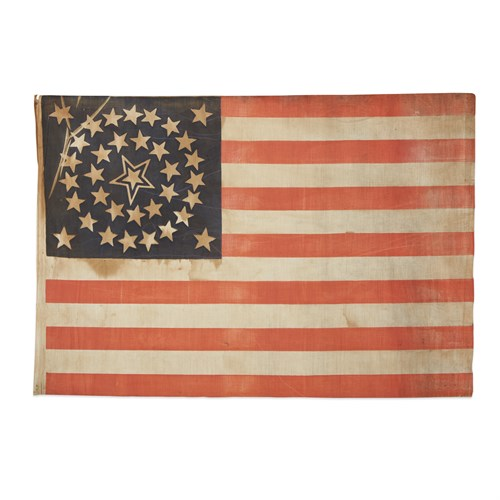 Lot 52 - A 35-Star American parade Flag commemorating the statehood of West Virginia