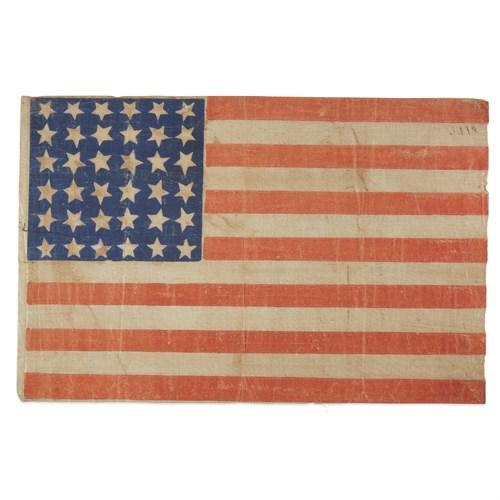 Lot 61 - A 36-Star American parade Flag commemorating Nevada statehood