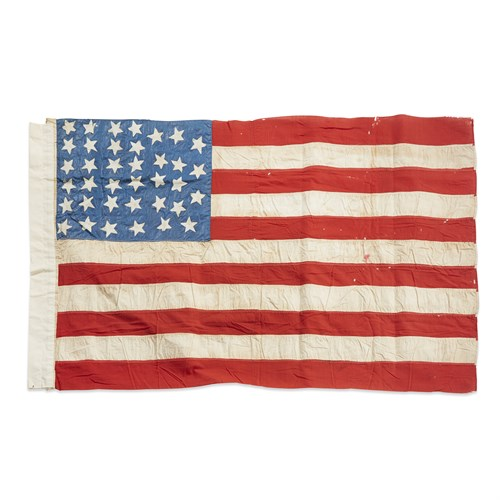 Lot 62 - A 36 & 37-Star American Flag commemorating Nevada and Nebraska statehood