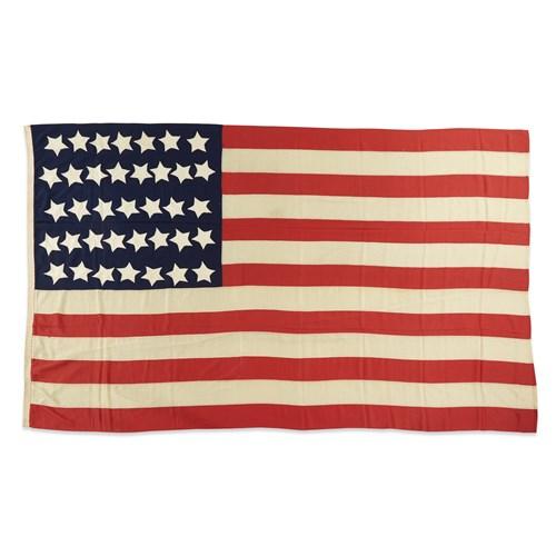Lot 63 - A 37-Star American Flag commemorating Nebraska statehood