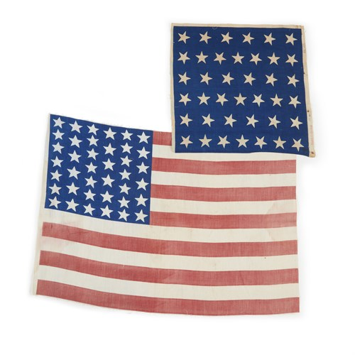 Lot 80 - Two 39-Star American parade Flags