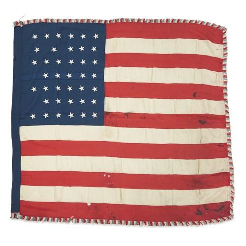 Lot 79 - A 39-Star American Ceremonial Flag