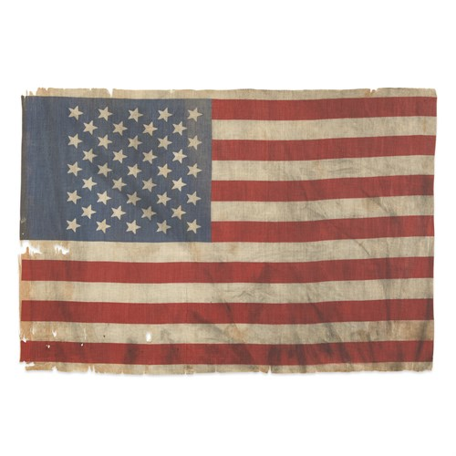 Lot 84 - A 41-Star canton and American parade Flag commemorating Montana statehood