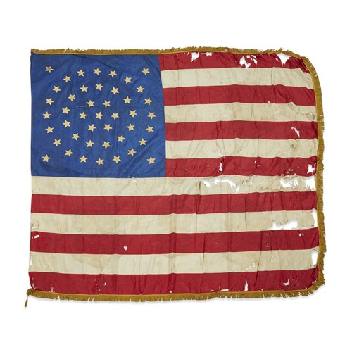 Lot 89 - A ceremonial 44-Star American military Flag commemorating Wyoming statehood