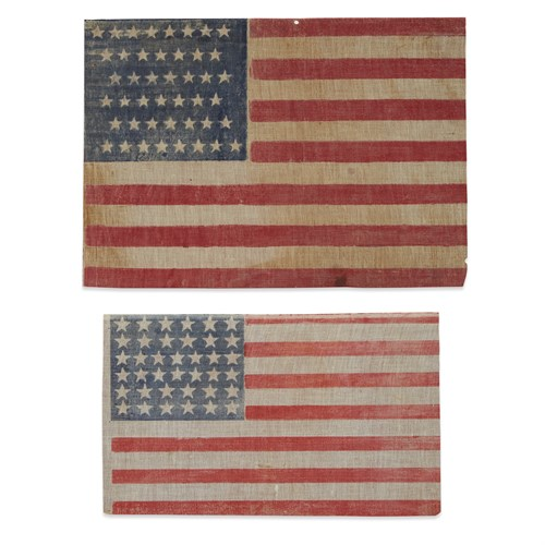 Lot 74 - A 38-Star American parade Flag commemorating Colorado and a 44-Star American parade Flag commemorating Wyoming