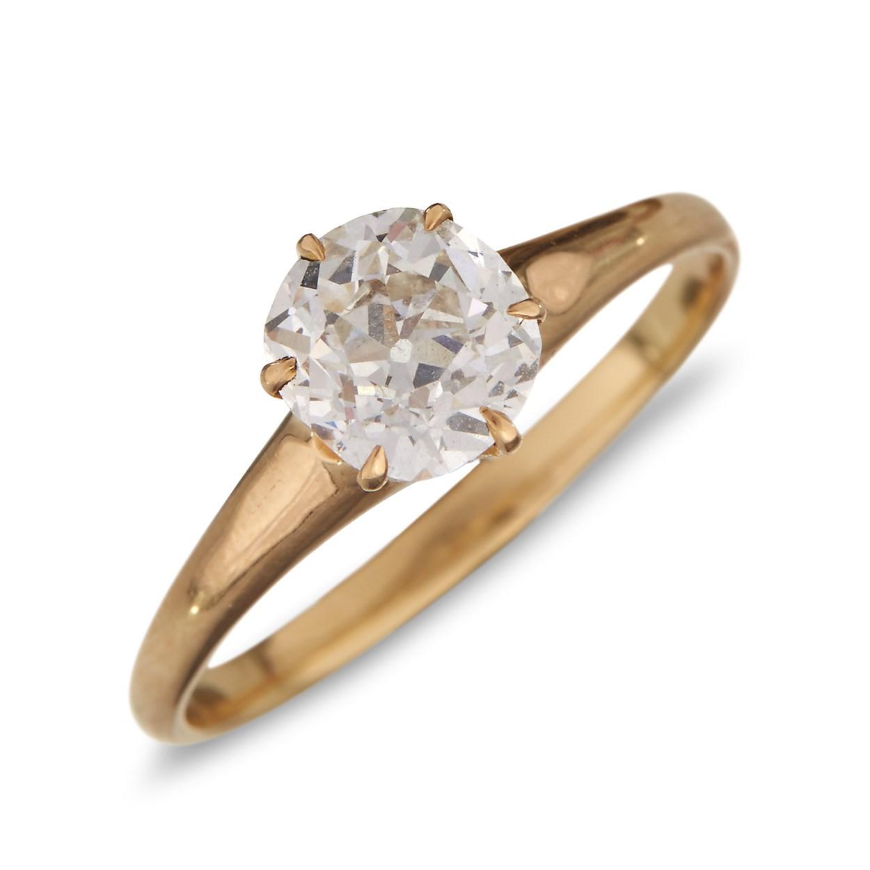Lot 21 - A diamond solitaire
