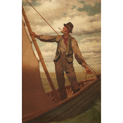 Lot 24 - John George Brown (American, 1831-1913)