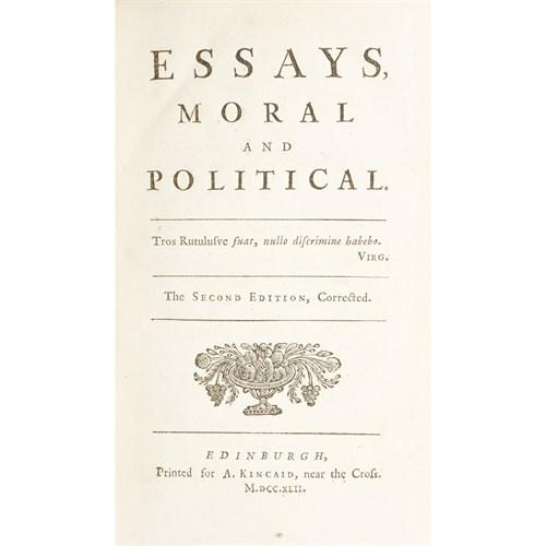 Lot 98 - [Philosophy] (Hume, David)