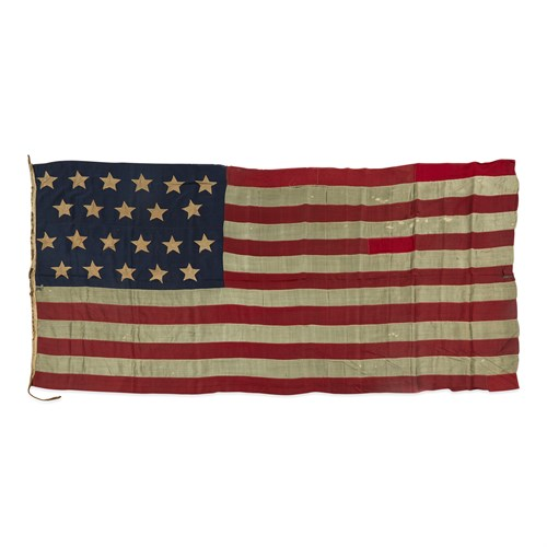 Lot 19 - A 22-Star American Flag commemorating Alabama statehood or a Exclusionary Flag
