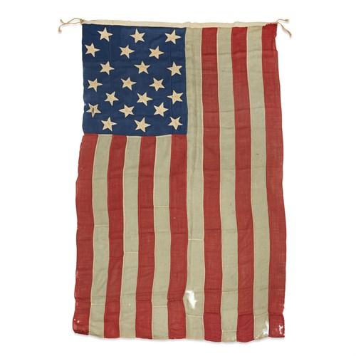 Lot 17 - A 21-Star American Flag commemorating Illinois statehood