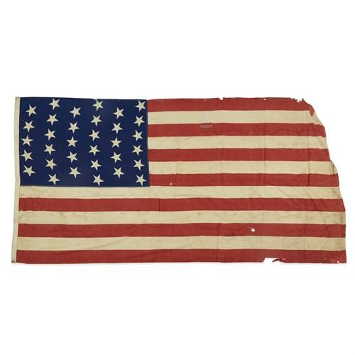 Lot 42 - A 33-Star American Flag commemorating Oregon statehood