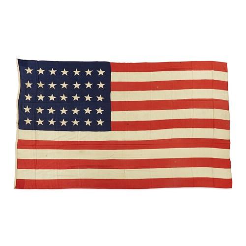 Lot 56 - A 35-Star Civil War era American Flag commemorating West Virginia statehood
