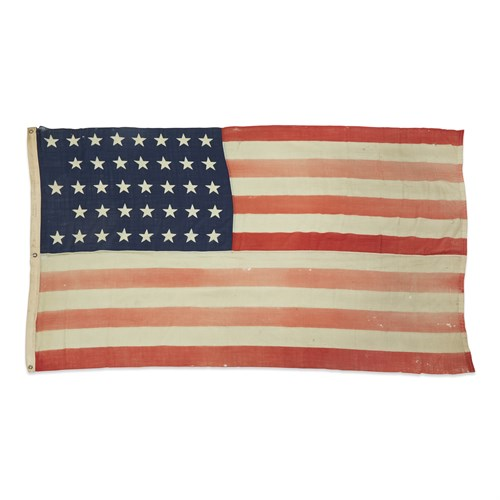 Lot 76 - A 38-Star American Ensign commemorating Colorado statehood