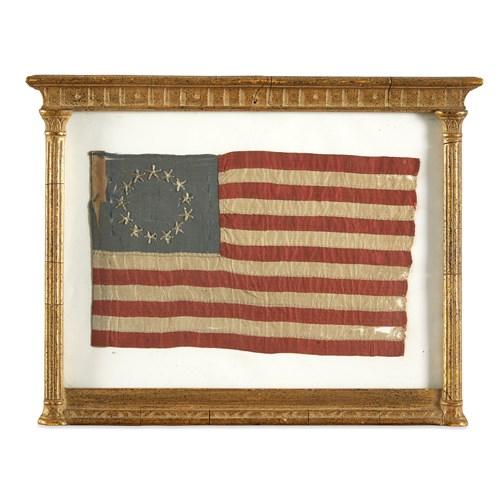 "Lot 4 - Three 13-Star American ""Betsy Ross House"" souvenir Flags"