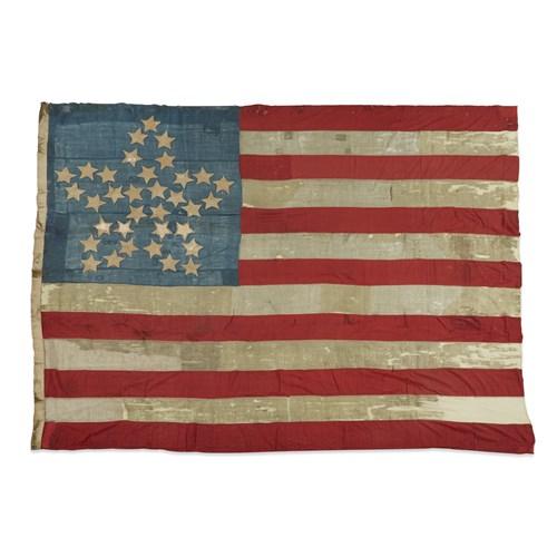 Lot 48 - A 34-Star 'Great Flower' American Flag commemorating Kansas statehood