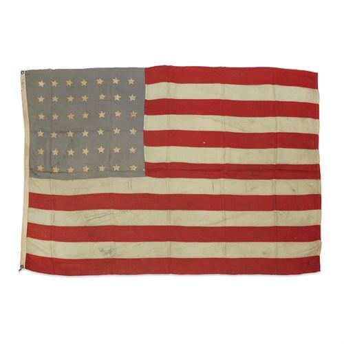 Lot 86 - A 42-Star American Flag commemorating Washington statehood