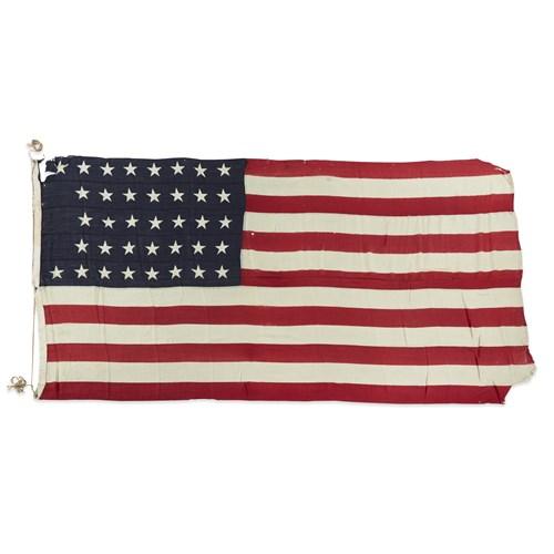 Lot 67 - A 37-Star American Flag commemorating Nebraska statehood