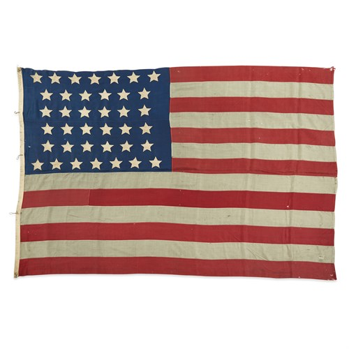 Lot 72 - A 38-Star American Flag commemorating Colorado statehood associated with the Vonnegut family of Indianapolis