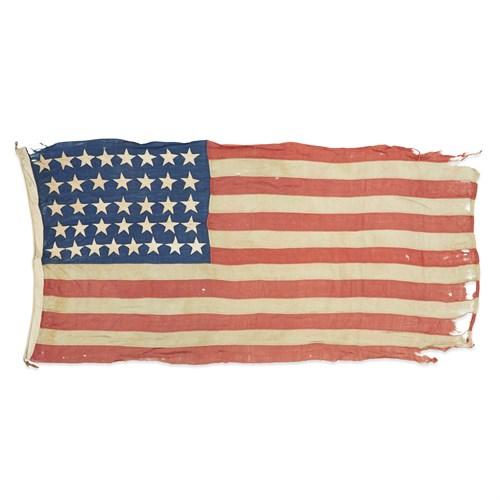 Lot 68 - A 37-Star American Flag commemorating Nebraska statehood